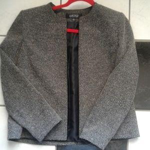 Kasper Open Jacket Blazer Black & White Size 12